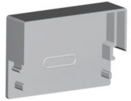 Фото1 ЗСП - Торцевая пластиковая заглушка прямоугольная для LED профиля серии ЛС, цвет - серый