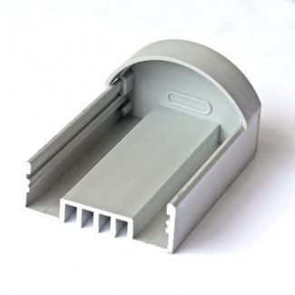 Фото2 ЗСР - Торцевая пластиковая заглушка полукруглая для LED профиля серии ЛС, цвет - серый