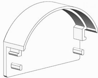 Фото3 ЗСР - Торцевая пластиковая заглушка полукруглая для LED профиля серии ЛС, цвет - серый