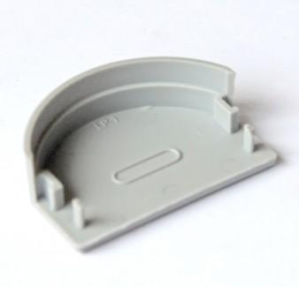 Фото1 ЗСР - Торцевая пластиковая заглушка полукруглая для LED профиля серии ЛС, цвет - серый