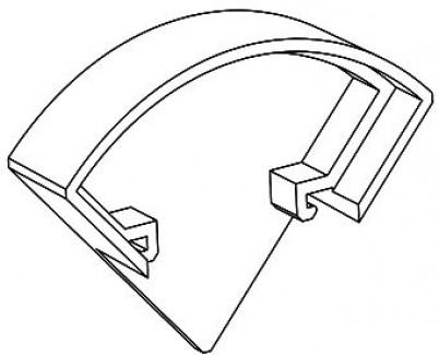Фото2 ЗСУК - Торцевая пластиковая заглушка полукруглая для углового LED профиля серии ЛС, цвет - серый