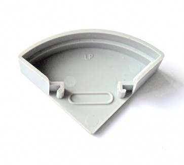 Фото1 ЗСУК - Торцевая пластиковая заглушка полукруглая для углового LED профиля серии ЛС, цвет - серый