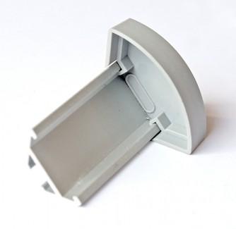 Фото3 ЗСУК - Торцевая пластиковая заглушка полукруглая для углового LED профиля серии ЛС, цвет - серый