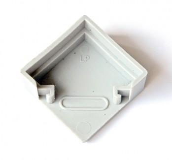 Фото2 ЗСУУ - Торцевая пластиковая заглушка угловая для углового LED профиля серии ЛС, цвет - серый