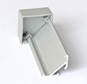 Фото3 ЗСУУ - Торцевая пластиковая заглушка угловая для углового LED профиля серии ЛС, цвет - серый