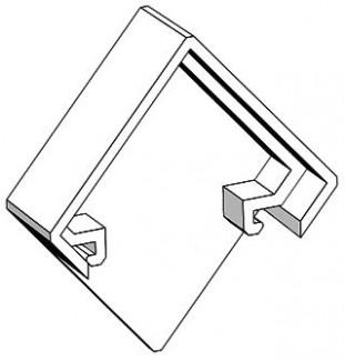 Фото1 ЗСУУ - Торцевая пластиковая заглушка угловая для углового LED профиля серии ЛС, цвет - серый